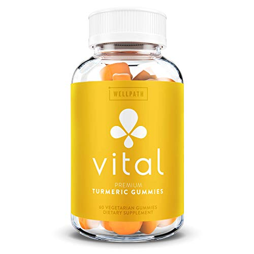 Vital Turmeric Gummies - Turmeric Curcumin Supplement with Ginger - Joint Support and Inflammatory Response - Tasty Gummy Alternative to Turmeric Capsules