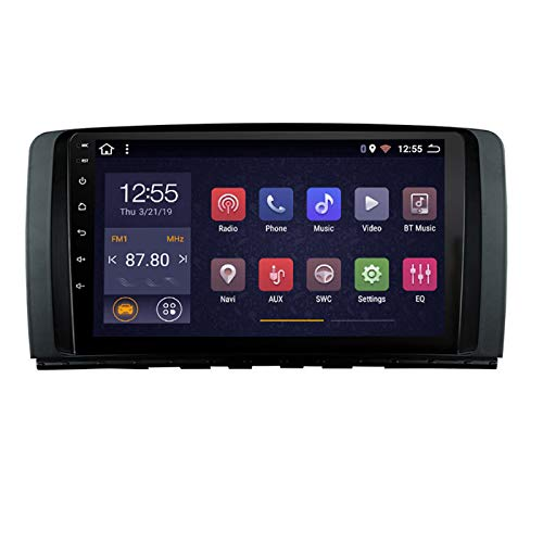 9 Pulgadas Navegación Multimedia Radio De Automóvil para Mercedes Benz R Class W251 R280 R300 R320 R350 R63 2006-2013, FM/Bluetooth/WiFi/SWC/Mirror Link,4 Core,WiFi: 2+32G