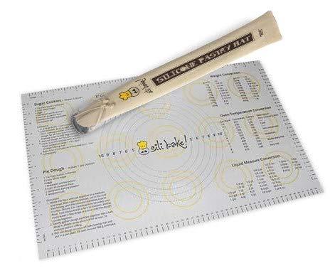 Sili Bake Moule à la silicone - la feuille antidérapante colle au comptoir pour la pâte à rouler - taille 59cm x 35cm