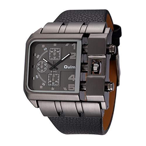 xiaoxioaguo Relojes casuales de los hombres de la esfera cuadrada de la correa ancha de los hombres relojes de cuarzo de la marca de lujo relojes de los hombres negocios