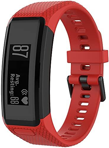 Gransho Correa de Reloj Compatible con Garmin Vivosmart HR, Silicona Correa Reloj con Acero Inoxidable Hebilla desplegable (Pattern 5)