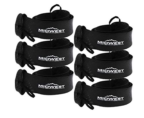 Midwest Outfitters Rod Socks Fishing Rod Sleeve Cover -6Pack- Rod Sock Fishing Pole Covers for Spinning Baitcaster and Youth Fishing Pole Sizes - Rod Cover Comes in Multiple Sizes and Colors