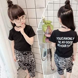 小中児童 荷重 韓国風 子供服セット 女児 赤ちゃん シャツ + フラワー 紋 弔り パ