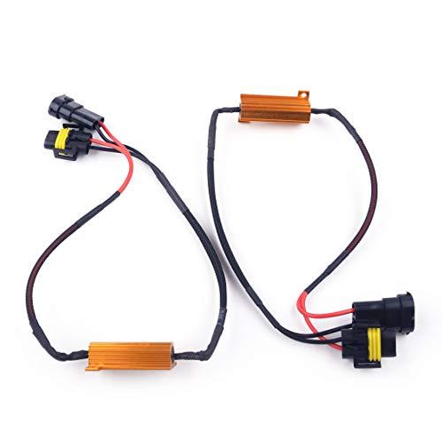 beler 2pcs sans Erreur H8 H11 LED DRL feu antibrouillard Canbus résistance résistance Decoder avertisseur Avertissement