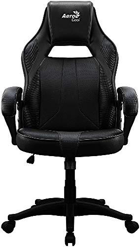 Aerocool AC40C Silla Gaming, tecnología Air, Altura Regulable, Color Negro