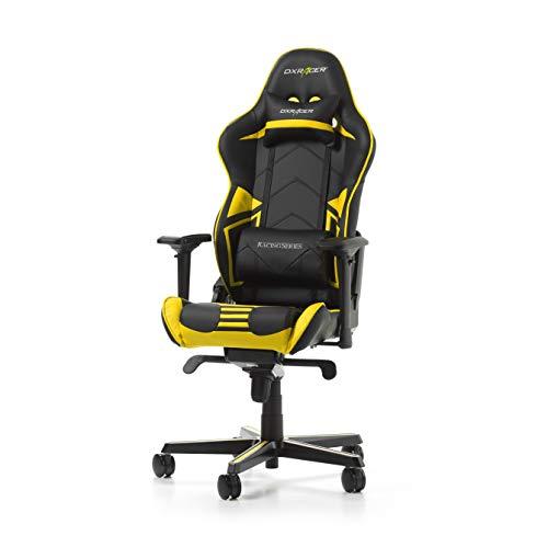 DXRacer (l'originale) Racing Pro R131 Sedia Gaming, Finta pelle, Nero & Giallo, 165-195 cm