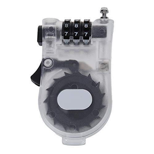 Combinación de Bmx por cable Bloqueo de la bici del casco de seguridad de equipajes Blanca libre de roturas, deformación y duradero (Color : White)