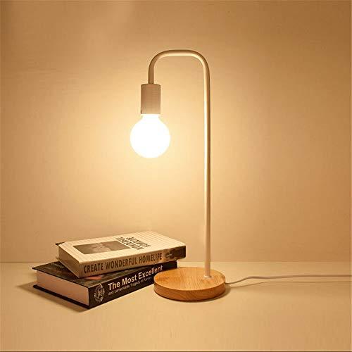 Modern Design Loft Vintage bureaulamp traditioneel Amerikaans platteland houten Edison tafellampen Scandinavische metalen tafellampen, Wit