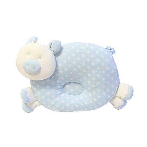 Little Cute anti-roulis Oreiller prévenir Tête plate pour 0–1 ans Bleu Pig