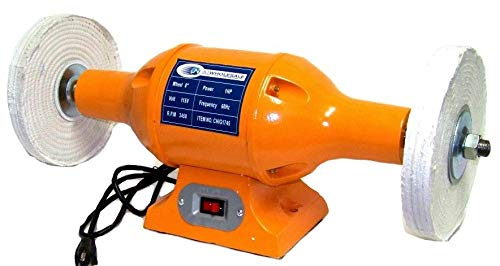 """Lotus Analin 8"""" LONG SHAFTS 1HP H D TOP BENCH BUFFER POLISHER GRINDER CLEANER BENCH-TOP"""