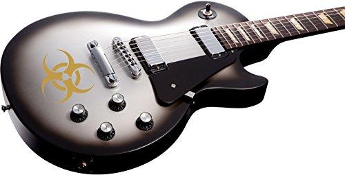 Biohazard Gitarre Aufkleber Abziehbild passt Ibanez Les Paul Etc, Gold