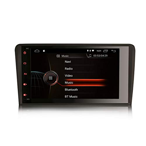 ERISIN 8 Pulgadas Android 10.0 Estéreo de Automóvil para Audi A3 S3...