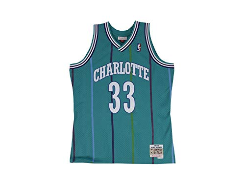 Mitchell & Ness Charlotte Hornets 1992-93 A. Mourning #3 Camiseta Blue
