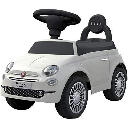 MGM- Trotteur Fiat 500-119091-Blanc-plastique-Poids Max 25 Kg-À Partir de 12 Mois, 119091, Blanc