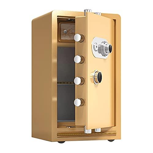 Cajas Fuertes Cajas Fuertes De Acero Resistentes Al Fuego, Cajas Fuertes Comerciales De Gran Capacidad, Suministros De Oficina Antirrobo De Seguridad, Los 39x32x60cm