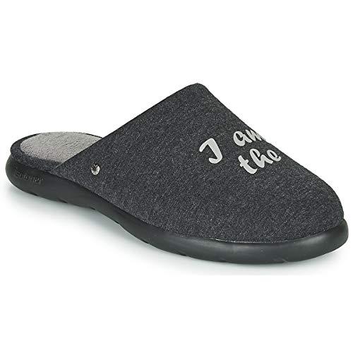 Isotoner - Zapatillas para hombre, Gris (gris), 46 EU