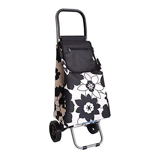 XIAOPENG Folding Shopping Cart Oart Tair Climbing Cart Grocery Cart with Wheels Folding Trolley Shopping Cart Lightweight with Great Loading Capacity, Waterproof Cart