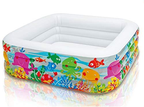 Thole Piscinas De Jardin para NiñOs Adulto Plastico Bathtub Familia Piscina De Ocio con Bomba De Pie 159x159x50cm