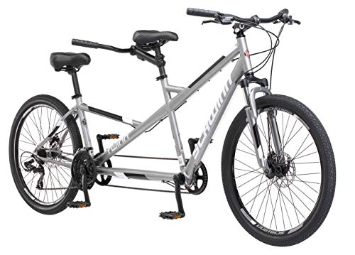 Schwinn Twinn Adult Tandem Bicycle, Low Step-Through, 26-Inch Wheels, Medium Frame, Grey