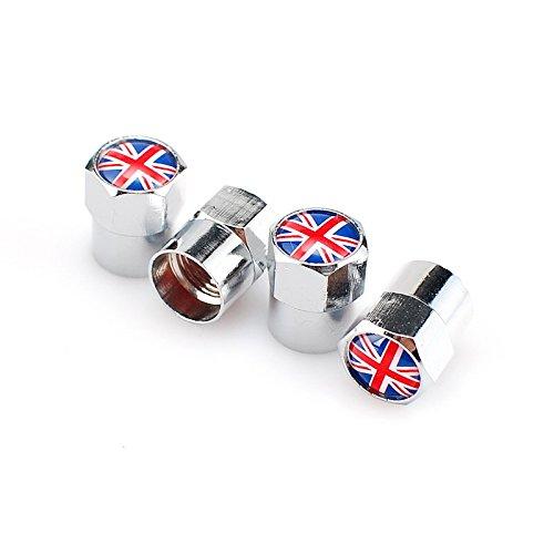 Goliton Bandera británica Mini Tapa de la válvula tapón de la Boquilla de Gas de Metal
