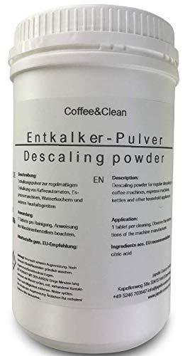 JaPeBi Entkalker Pulver Zitronensäure für Kaffeevollautomaten Espressomaschinen Gastronomie, 1kg / 1000g