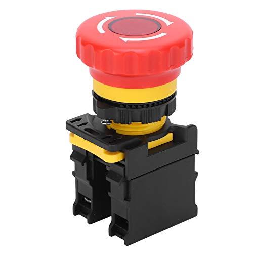 Interruptor de parada cerrado Botón de parada de emergencia Interruptor de botón tipo hongo Rojo