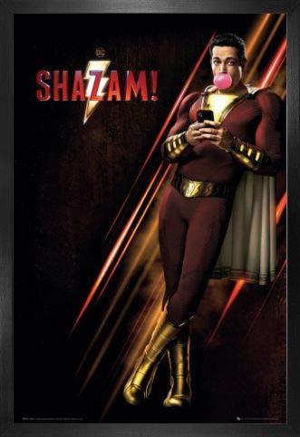 1art1 Shazam! Póster con Marco (Madera DM) - One Sheet (91 x 61cm)