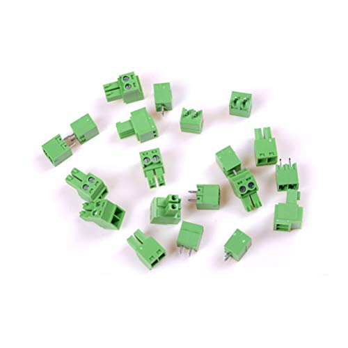 Terminals - 2019 3.81mm 10 stuks 2pin terminal right Angle Plug Type 300v 8a Pitch Connector Pcb Screw Block - Pcb Connector 2 Connector Yellow 6x30 Pcb Connectors Block Wire Connector Wire Din