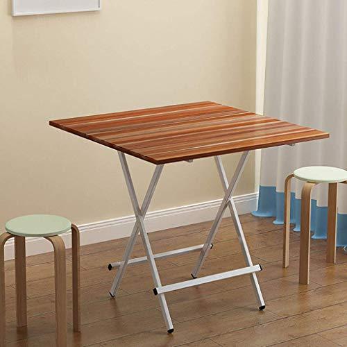 DNZ gemakkelijk te eten, eenvoudige opvouwbare tafel, klein appartement, eettafel, 4 personen, tafel, outdoor draagbare plein, vierkante tafel, familie