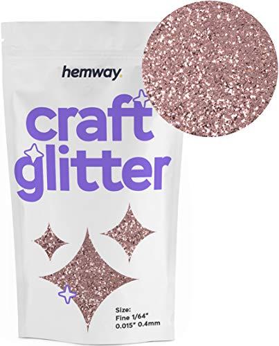 Hemway Craft Glitter 100g 3.5oz FINE 1/64' 0.015' 0.4MM (Rose Gold)