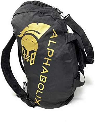 Alphabolix Spartan Men Gym Bag 3 0 SoA Hybrid Convertible Duffel Bag Backpack Large Capacity product image