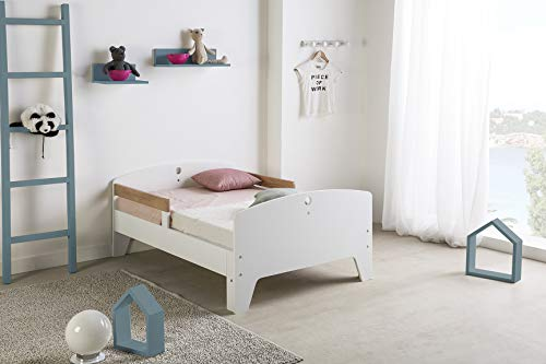VS Venta-stock Cama Infantil evolutiva 90X140/170/200 CM, Color Blanco