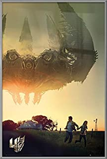 Transformers 4: Age of Extinction - Framed Movie Poster/Print (Space Ship/Teaser) (Size: 24 inches x 36 inches)