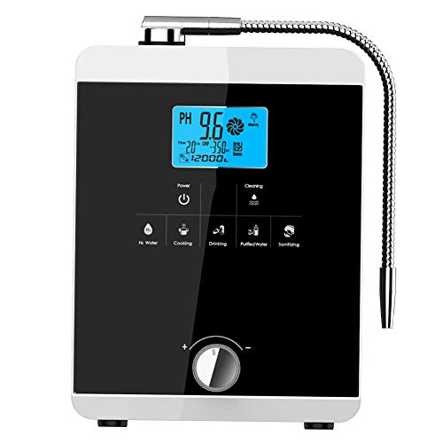 aQuasafe Home Water Ionizer   pH 2.8 to 11 Alkaline Water Machine   Antioxidant Potential up to -800mV   8000L per Filter