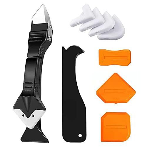 InnerSetting 10pcs Joint Filler Spatula Sealant Remover Caulk Finisher Scraper (Orange)