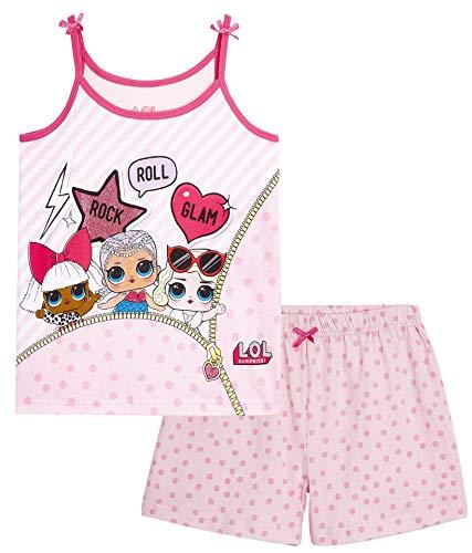 L.O.L Surprise ! Camisones de camisón o camisón de Confeti Pop Vestidos de camisón para niñas Lil Lencería escandalosa Littles (7/8 años, Glam Girls PJ)