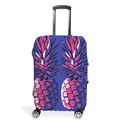 Rosa Blaue Frucht Ananas Koffer Abdeckungen Gepäck Cover Luggage Koffer Schutzhülle 3D-Druck Koffer Hülle Trolley Case Schutzhülle White m (60x81cm)
