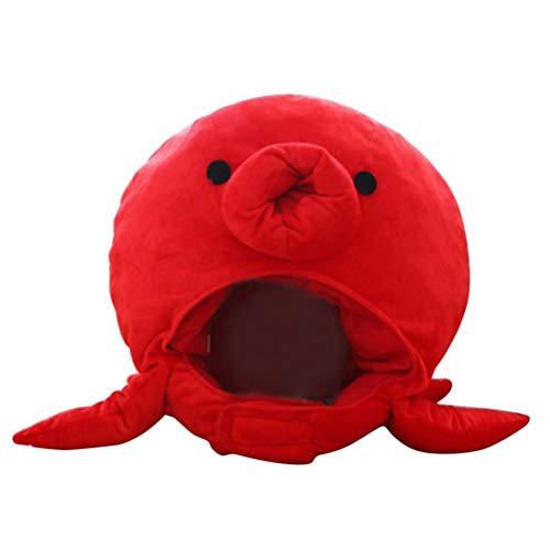 Amosfun Plüsch Tintenfisch Hut Kunstpelz Tier Hut Mütze Headwear Lustige Neuheit Hut Foto Requisiten Zubehör Kostüm für Geburtstag Karneval Party Favors