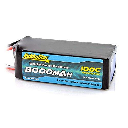 HobbyStar 8000mAh 22.2V, 6S 100C LiPo Battery, EC5 Plug