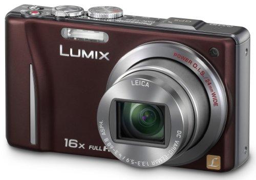 Panasonic Lumix DMC-TZ22EG-T Digitalkamera (14 Megapixel, 16-fach opt. Zoom, 7,5 cm (3 Zoll) Touch LC-Display, GPS, Full HD, 3D, bildstabilisiert) braun