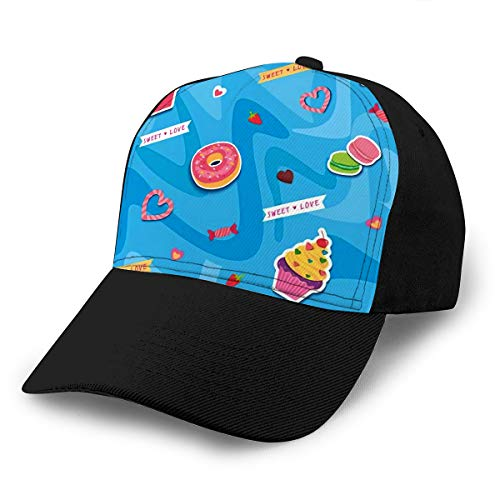 txregxy Baseball Cap Hats Adjustable Sweet Dessert Valentine Day Design to