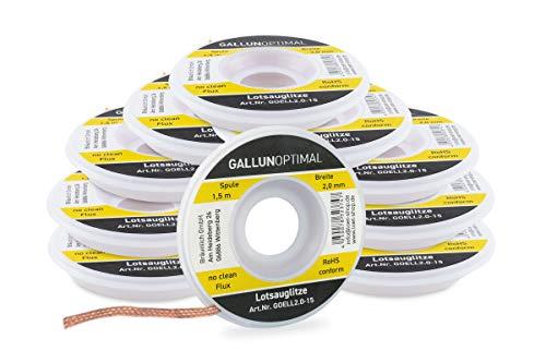 GALLUNoptimal Entlötlitze flussmittelgetränkt 2 mm breit 1,5 m lang auf...