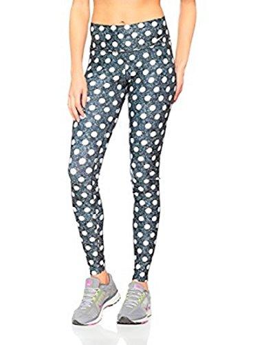 Nike Legend Women's Training Tight Fit Leggings White Polka Dots on Gray Marble (XL)