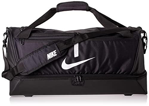 Nike Academy Team, Calcio Duffel Bag Unisex Adulto, Nero/Nero/Bianco, MISC