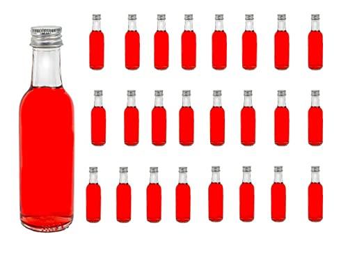 24 botellas de vidrio vacías BORDO 0,05 l botellas de zumo de botellas de licor de 50 ml botellas de licor slkfactory