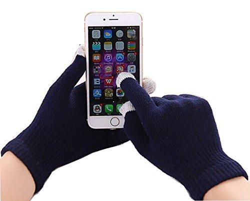 Fone-Case Nokia N1 7.9' (Navy Blue) Touchscreen Guanti per Smartphone e Tablet con 3 Dita d'Argento Rivestito Punte di Nylon in Fibra