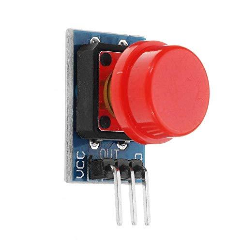 KEKEYANG 10 unids Módulo de interruptor de botón de botón grande con sombrero de salida de alto nivel interruptor electrónico punto steuermodul controlador Junta