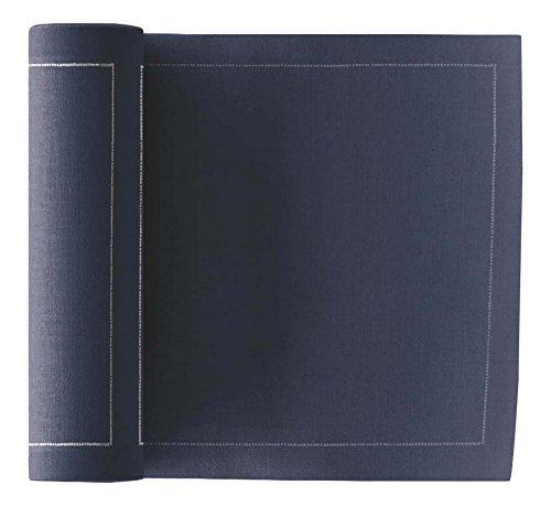 Serviette de table en coton 32x32cm - Rouleau de 12 serviettes - Gris Antracite