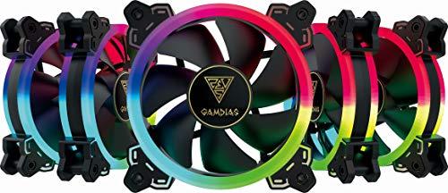 Gamdias Aeolus M1 Case Fan Confezione con Telecomando1205R 5x RGB 120mm