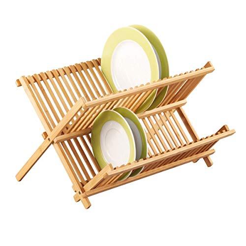Zeller 25341 Tellerabtropfständer 42 x 34 x 25 cm, Bamboo
